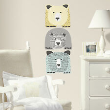 Bears Wall Decals DwellStudio Mural Big Bear Baby Nursery Stickers Decor NEW
