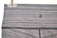 Lululemon Athletica 8 Wunder Under Crop High Rise Black Gray Heathered Space A
