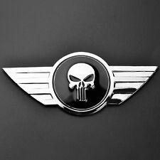 Car Metal Emblem Punisher Skull curved Badge for Mini Cooper Cabrio R50 R56