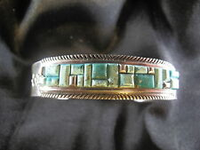 Handmade Navajo Mens Sterling Silver 136 grams Native American Bracelet signed