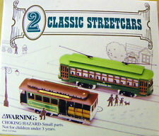 2 CLASSIC STREETCARS HO SCALE SAN FRANCISCO CABLE CAR & DESIRE STREET TROLLEY