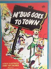 MR BUG GOES TO TOWN-1941 VINTAGE CHILDRENS BOOK-BASED ON THE FILM-EXTREMELY RARE