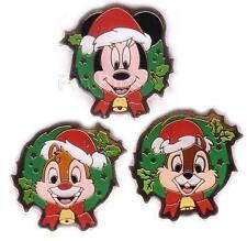 Disney JDS Christmas Wreath Pin Card 3 Pin Set