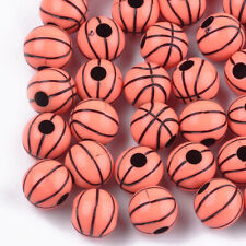 50 High Quality Basket Ball Beads - Approx 11mm - Free P&P