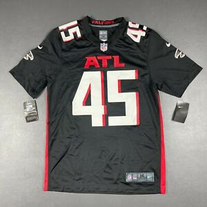 100% Authentic Deion Jones Nike Falcons On Field Game Jersey Size M 40 Mens