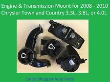 Engine & Transmission Mount for 2008-2010 Chrysler Town & Countr 3.3L 3.8L 4.0L
