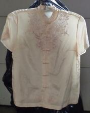 Wonderful Vintage Geony 100% Silk Ladies Blouse - VGC - Size Small 34  BEAUTIFUL