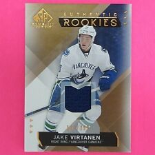 JAKE VIRTANEN  2015-16  ROOKIE  GAME USED COPPER  128/399   #168   Canucks