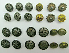 Mixed Lot of Vintage Fancy Metal Buttons Filigree Intricate Designs Metal Shanks