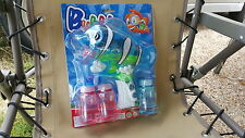 FISH BUBBLE GUN W/ LED & BATTERIES AND 3 REFILLS TANK INCLUDED BLUE,USA SELLER