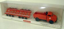 WIKING HO 1/87 Austrian Culemeyer MAN Hauber Low-Side Truck w/Railcar Trailer