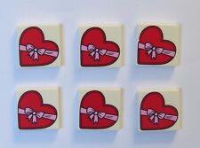 LEGO 6 Red Heart Piatta minifigura non inc San Valentino Amore Regalo San Valentino