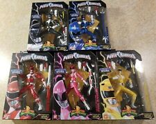 Mighty Morphin Power Rangers Legacy Metallic Figures Full Set!!!