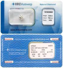 0.83 ct L VVS2 NATURAL DIAMOND BRILLIANT NIL VG VG VG HRD DIAMANT SEALED