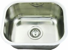 Single Bar Bowl Inset Kitchen Laundry Sink Stainless /s Tub CM5 23L  437x360x180