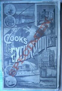 THOMAS Cook COOK'S EXCURSIONIST AND TOURIST ADVERTISER 1888 SPECIMEN & MAPS RARE
