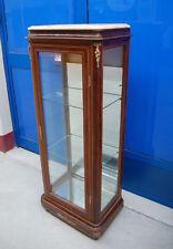 Piccola vetrina in mogano di gusto Napoleone III primo '900 alta 137 cm