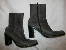 GUESS BY MARCIANO crackle aged look gray leather ankle mid calf boots 7.5 M