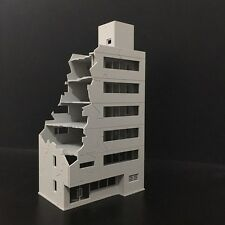 CL100-BD-7S: 1:100 Battle Damaged building for Gundam, Railway, Sci-Fi diorama