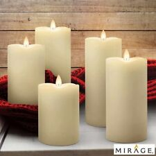 Mirage LED Set of 5 Wax Candles Remote Programmable Timer Housewarming Gift