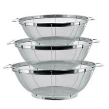 U.S. Kitchen 3pc Colander Set, Stainless Steel Mesh Strainer Net Baskets 3 4 5qt