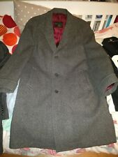 Vintage 1970s Mens Grey Crombie British Overcoat Coat 42R Excellent Condition