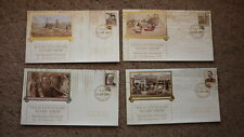 1993 WAPEX SET OF 4 GOLD CENTENARY STAMP SHOW COVERS, GOLD PM