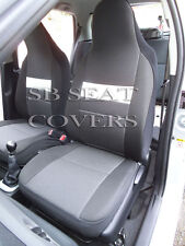 passend für VW Scirocco, Autositzbezüge, anthrazit + weiß Rand