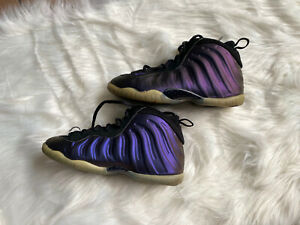 Nike Little Posite One 'Eggplant' Purple/Black Size 2Y (723946-005)