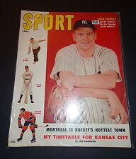 Sport Magazine MAG April 1955 BOB TURLEY, Joe Norris, Maurice Richard Apr '55