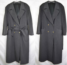 Vintage Burberry Charcoal Gray Loro Piana Wool Cashmere Trench Coat 38 S