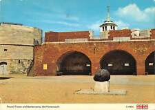 uk34232 battlements and round tower old portsmouth uk