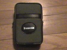 "Gray textured plastic Diamond Camera Case. Zipper close. Belt Loop. 5 1/4"" x 3.5"