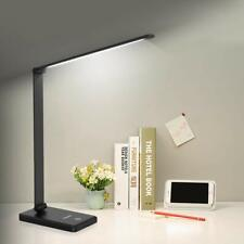 Lampe de Table LED Bureau Lecture Chevet Rechargeable Toucher Bureau Pliable