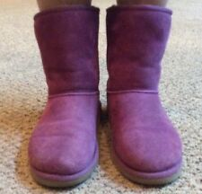 Ugg Classic Short Billberry Purple Winter Boots 5251 Sz Kids 5/Euro 35 VGUC