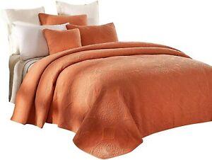 Tache Cotton Stone Wash Vintage Rustic Orange Tuscany Mandala Coverlet