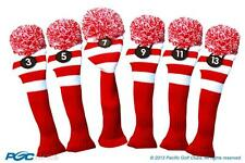 NEW 3 5 7 9 11 13 RED WHITE KNIT golf clubs Headcover Headcovers Set RETROPGC