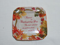 lot 4 ~ 222 Fifth AUTUMN CELEBRATION Forever Square Appetizer Plate Thanksgiving