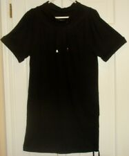 NWT French Connection Black Short Sleeve  Drawstring Dress Size 2 Retail  $148