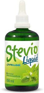 Stevio® Stevia Liquid Drops 100ml, Pure Stevia, 100% Natural
