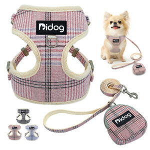 Pet Step-In Harness and Leash Dog Cat Soft Mesh Walking Vest Lead with Treat Bag