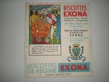ANCIEN BUVARD PUBLICITAIRE BISCOTTES EXONA N°1