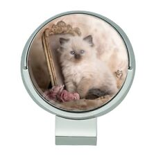 Ragdoll Tiffany Cat Victorian Roses Golf Hat Clip With Magnetic Ball Marker