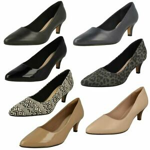 Ladies Clarks Smart Pointed Toe Slip On Leather Court Shoes Linvale Jerica