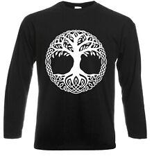 Yggdrasil Tree Long Sleeve T-Shirt Tree of Life Celtic Tribal Gift Oak King Top