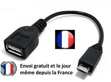 CABLE ADAPTATEUR MICRO MALE TYPE B VERS FEMELLE USB 2.0 QUALITE PORT OFFERT