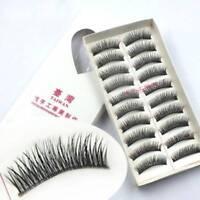 False Lashes Fashion Handmade Natural Long 10Pairs Eyelashes Eye Makeup