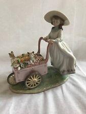 "Lladro ""Kitty Cart� Porcelain Figurine #6141"