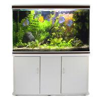 Aquarium Komplettset Heimaquarium Aquarien Fische  mit Unterschrank Weiß