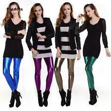 Women Lady Fashion Metallic Liquid Leggings Shiny Stretch Women Pencil Pants New